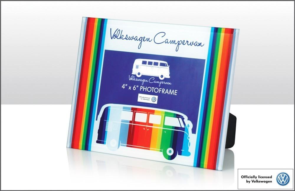 Bilderrahmen VW Camper Bunt Regenbogen Glas - Der-SchnickSchnackShop ...