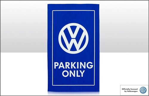 Geschirrtuch in Blau VW PARKING ONLY 100% Baumwolle